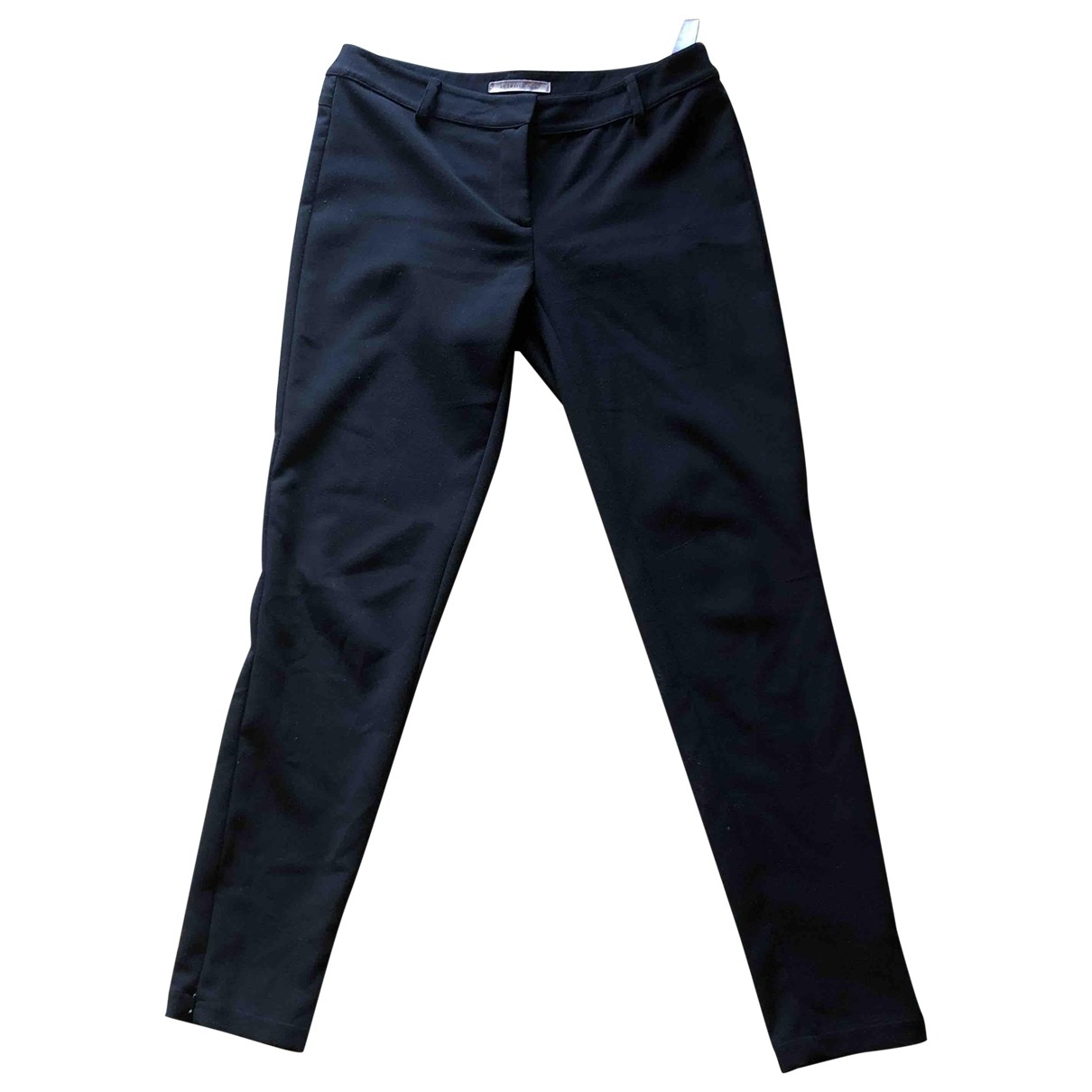 Non Signé / Unsigned \N Black Trousers for Women 8 US