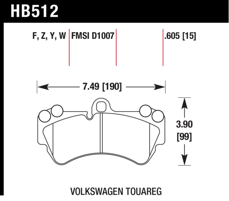 Hawk Performance HB512W.605 Disc Brake Pad Front