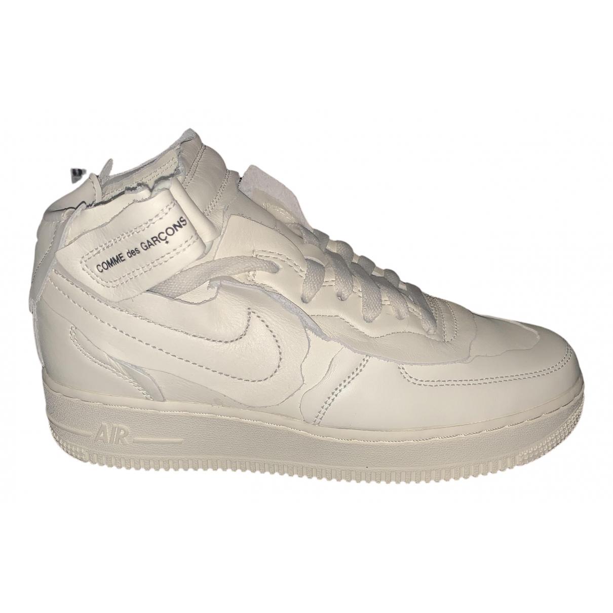 Nike X Comme Des Garcons Air Force 1 Sneakers in  Weiss Leder