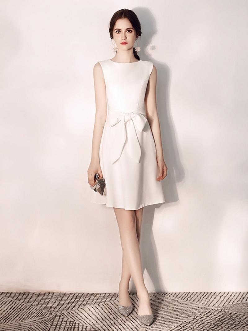 Ericdress A-Line Sleeveless Bowknot Short Homecoming Dress