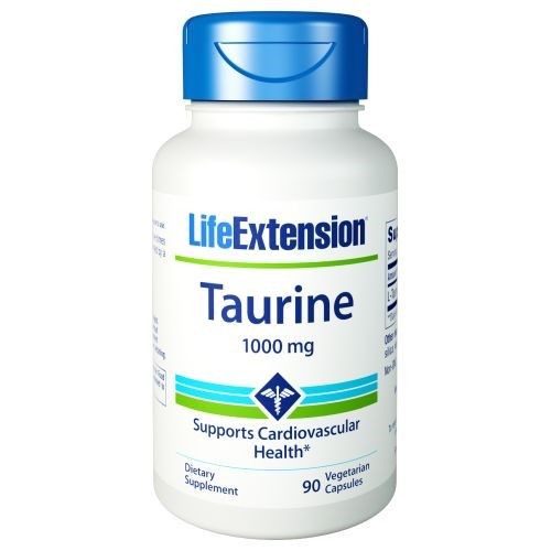 Taurine 90 Vcaps by Life Extension