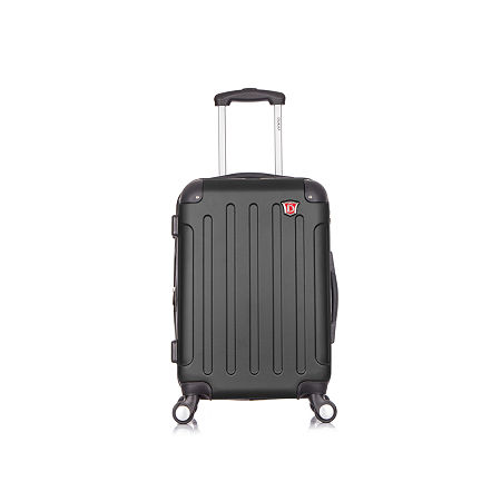 DUKAP Intely Hardside Spinner 20 Carry-On with USB port, One Size , Black