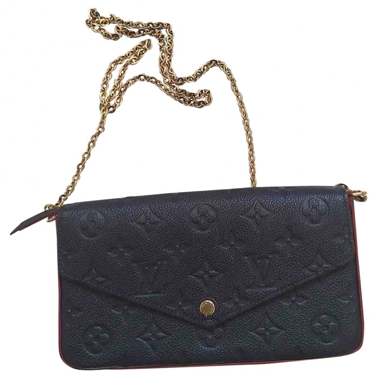 Louis Vuitton Félicie Blue Leather Clutch bag for Women \N
