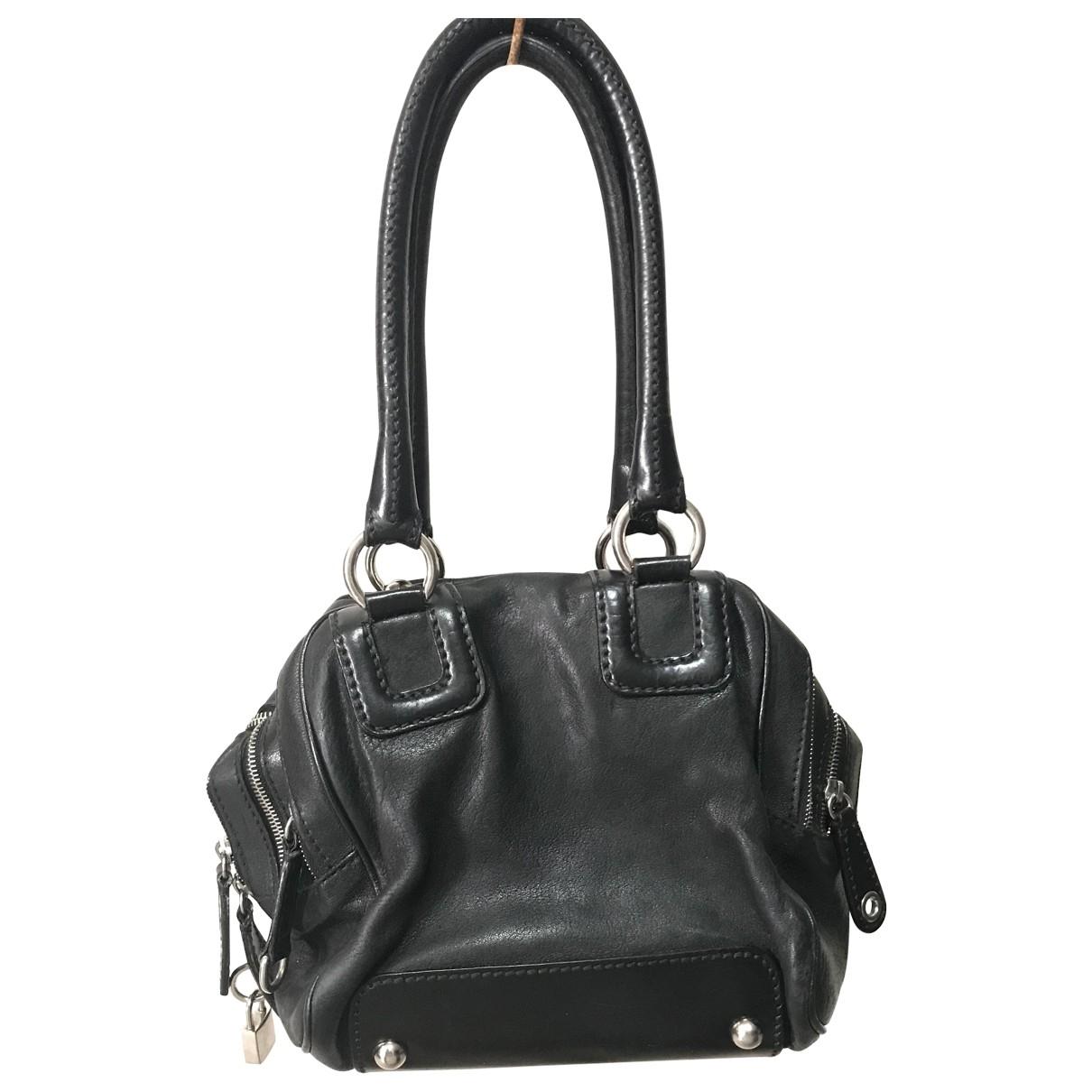 D&g \N Handtasche in  Schwarz Leder