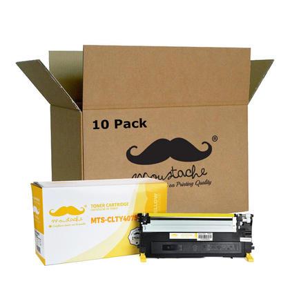 Compatible Samsung CLT-Y407S cartouche de toner jaune - Moustache - 10/paquet