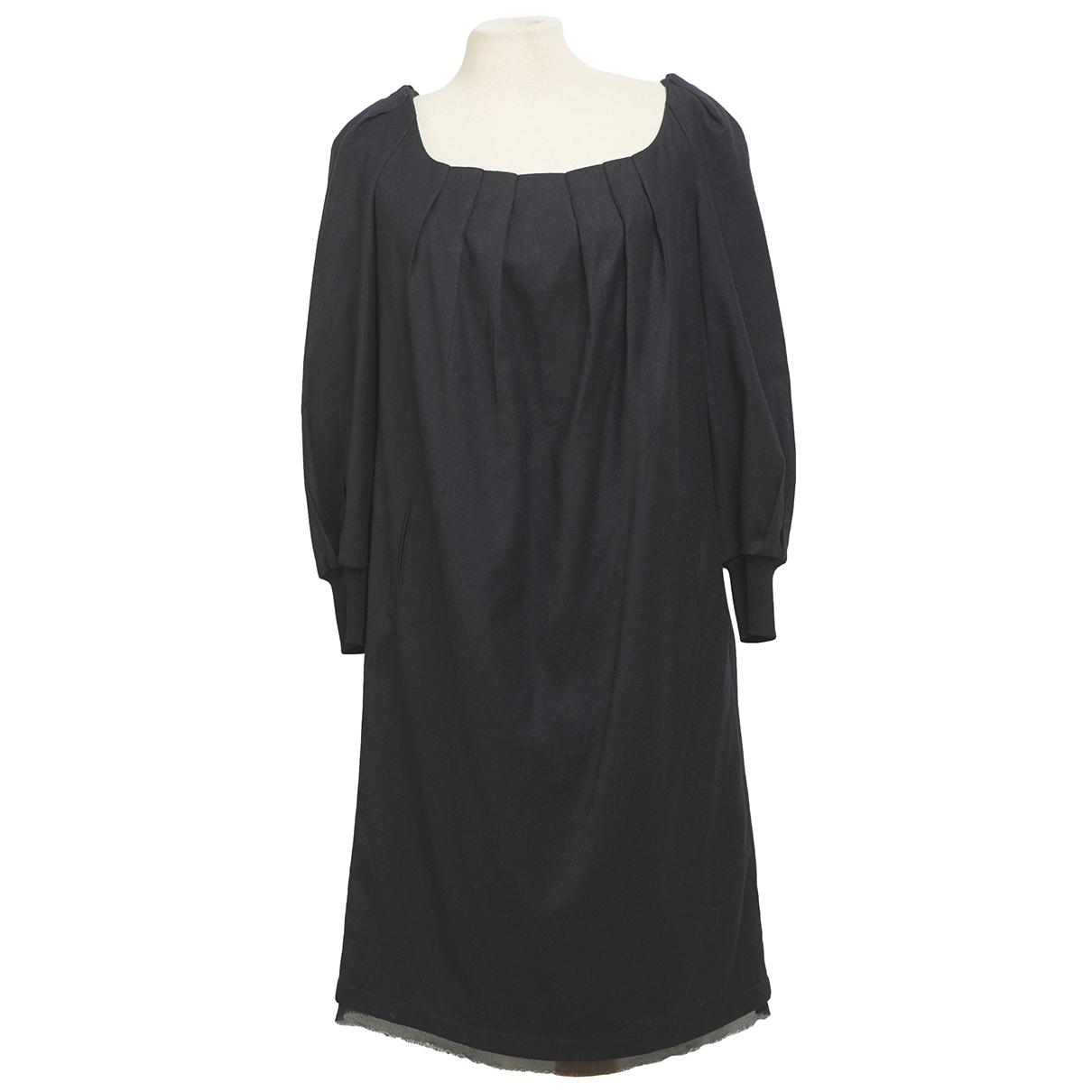 Costume National \N Kleid in  Schwarz Wolle