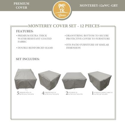 MONTEREY-12aWC-GRY Protective Cover Set  for MONTEREY-12a in