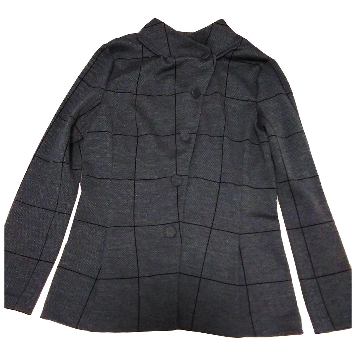 Emporio Armani - Veste   pour femme en laine - anthracite