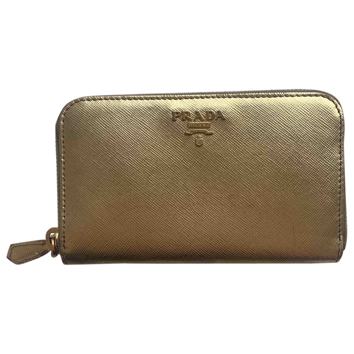 Prada \N Portemonnaie in  Gold Leder