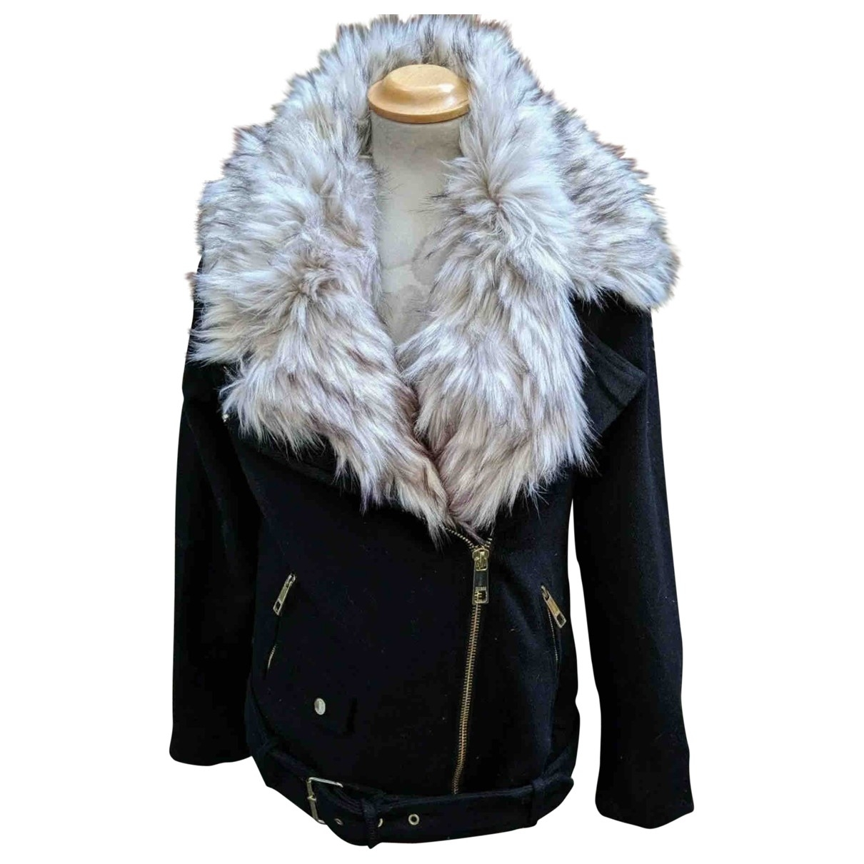 Guess - Veste   pour femme en laine - noir