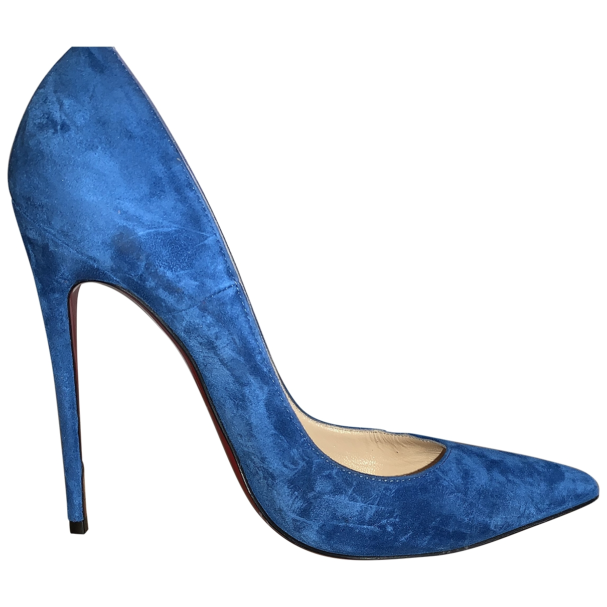 Christian Louboutin So Kate  Pumps in  Blau Veloursleder