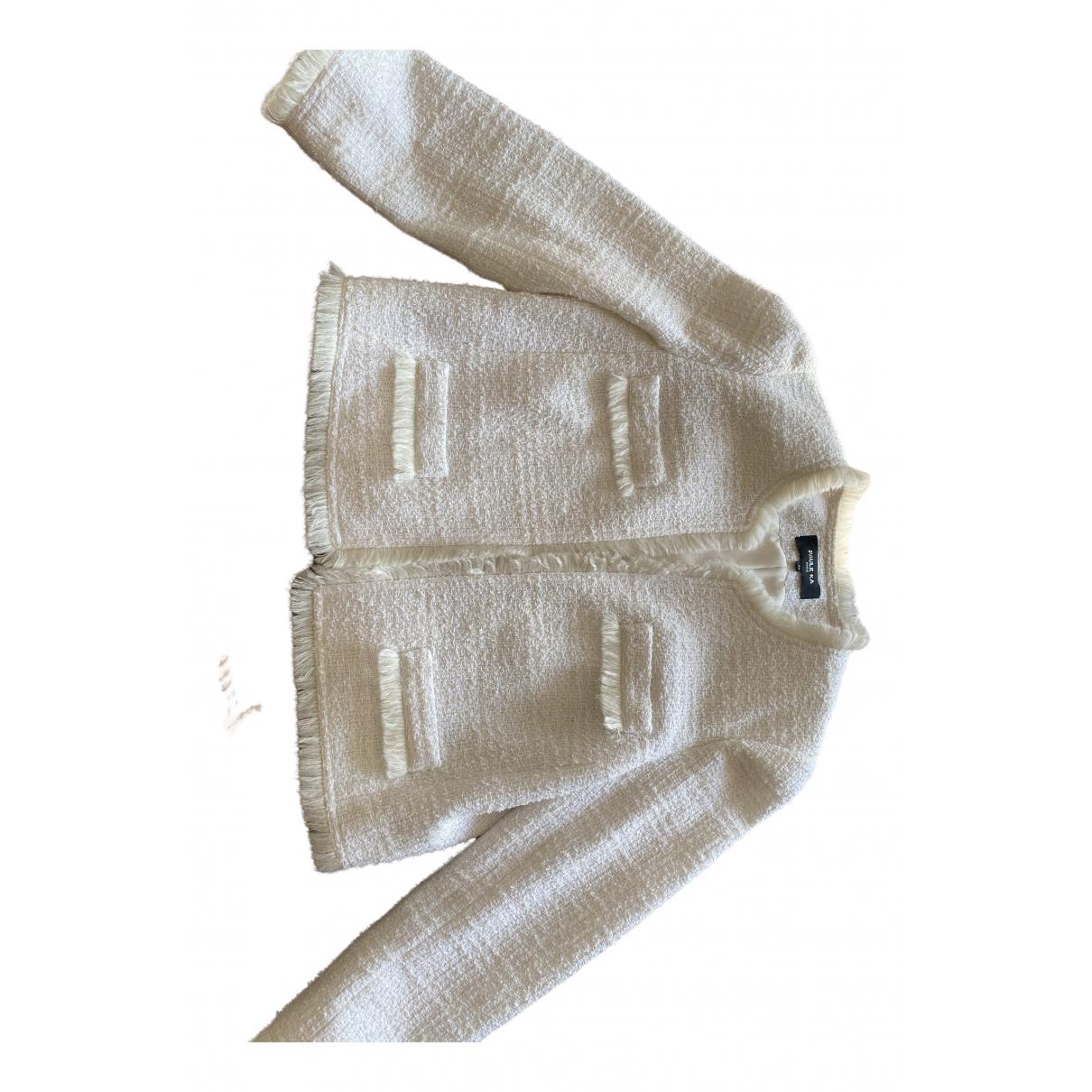 Paule Ka N White Wool jacket for Women 44 FR