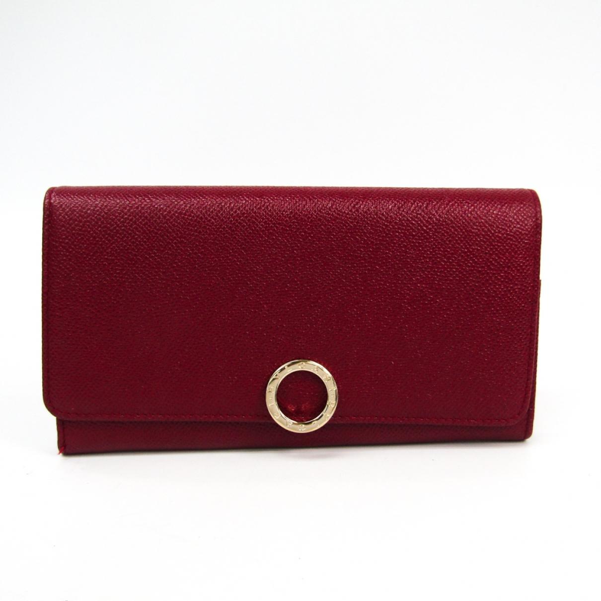 Bvlgari \N Red Leather wallet for Women \N