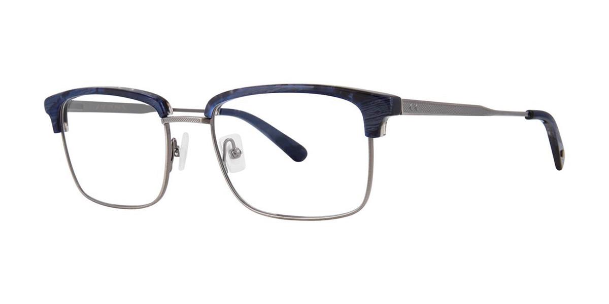 Zac Posen PIERCE Navy Horn Mens Glasses Blue Size 54 - Free Lenses - HSA/FSA Insurance - Blue Light Block Available
