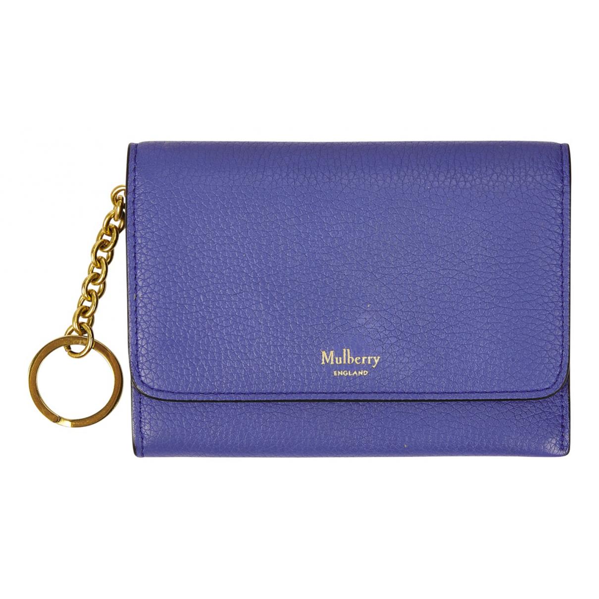 Mulberry \N Portemonnaie in  Blau Leder
