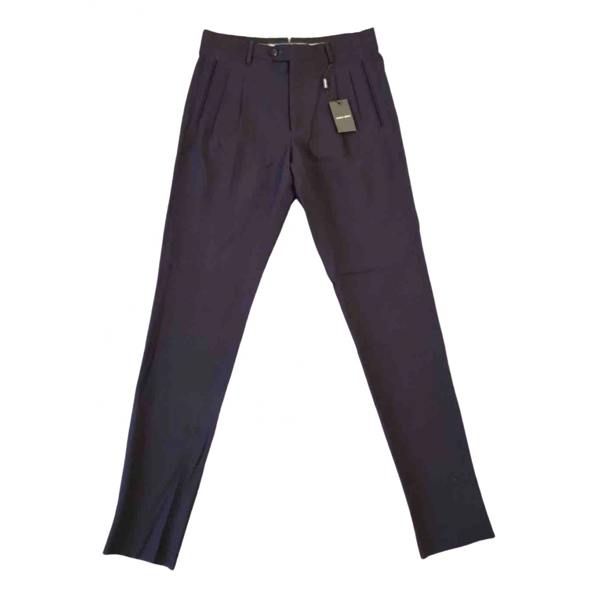 Giorgio Armani \N Navy Wool Trousers for Men 48 IT