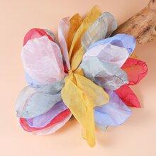 Fabric Flower Design Brooch