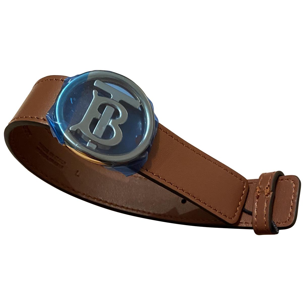 Burberry \N Armband in  Braun Leder