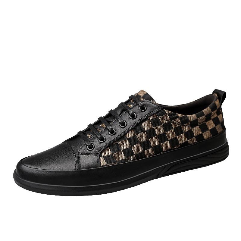 Ericdress Plaid Low-Cut Upper Men's Casual Shoes