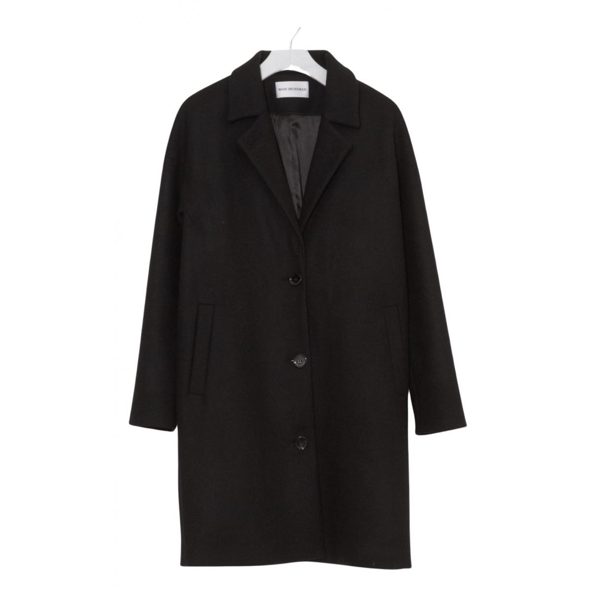 Won Hundred - Manteau   pour femme en laine - noir