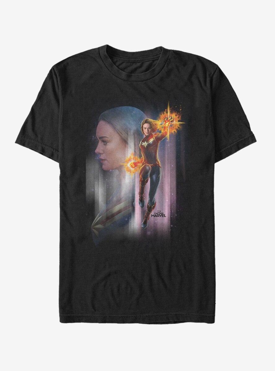 Marvel Captain Marvel Galaxy T-Shirt