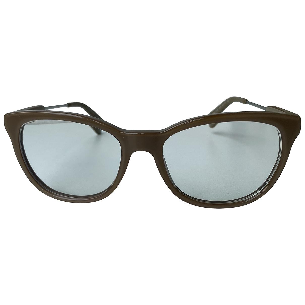 Burberry \N Sonnenbrillen in  Beige Kunststoff