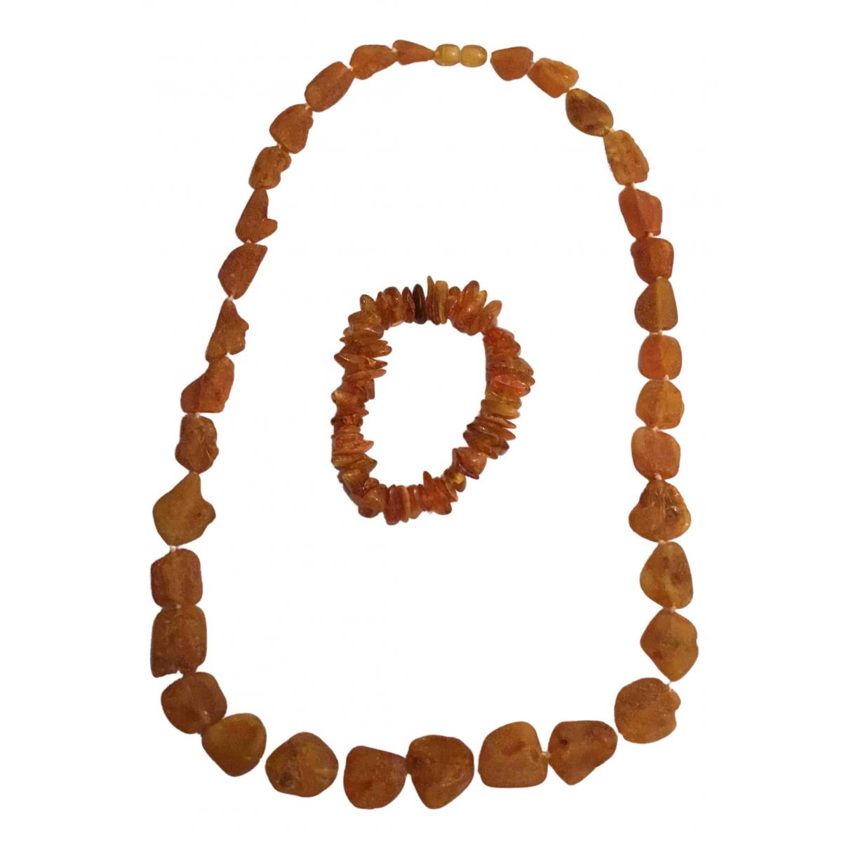 - Parure Ambre pour femme en perles