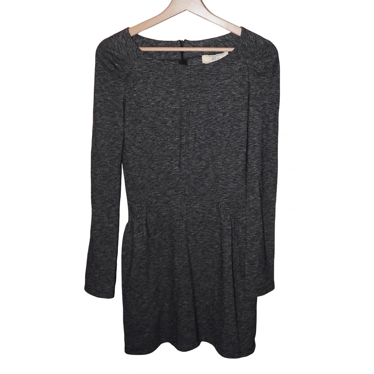Vanessa Bruno Athe \N Kleid in  Grau Baumwolle