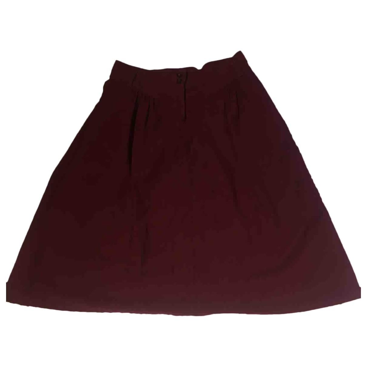 Sessun - Jupe   pour femme en coton - bordeaux