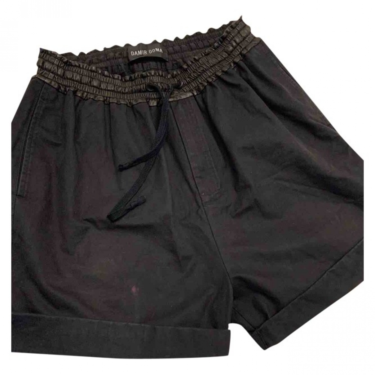 Damir Doma \N Black Cotton Shorts for Men 48 IT