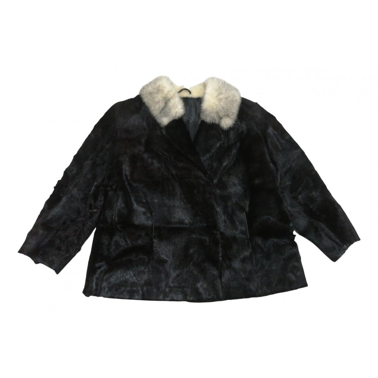 - Veste   pour femme en vison - noir