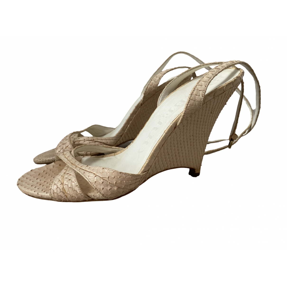 Burberry \N Pink Python Sandals for Women 4.5 UK