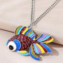 Halskette mit Fisch Anhaenger