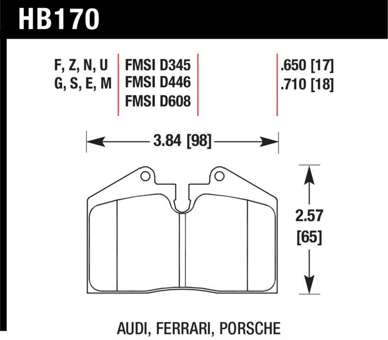 Hawk Performance HB170B.650 Disc Brake Pad