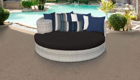 Fairmont Collection FAIRMONT-BLACK 1 Sun Bed with 4 Large pillows   3 Regular pillows - Beige and Black