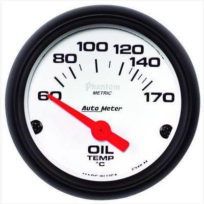 Auto Meter Phantom Electric Oil Temperature Gauge - 5748-M