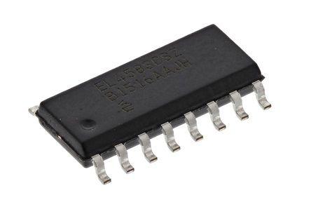 Renesas Electronics ICL3232IBNZ, Line Transceiver, RS-232 2-TX 2-RX 2-TRX, 3.3 V, 5 V, 16-Pin SOIC (5)