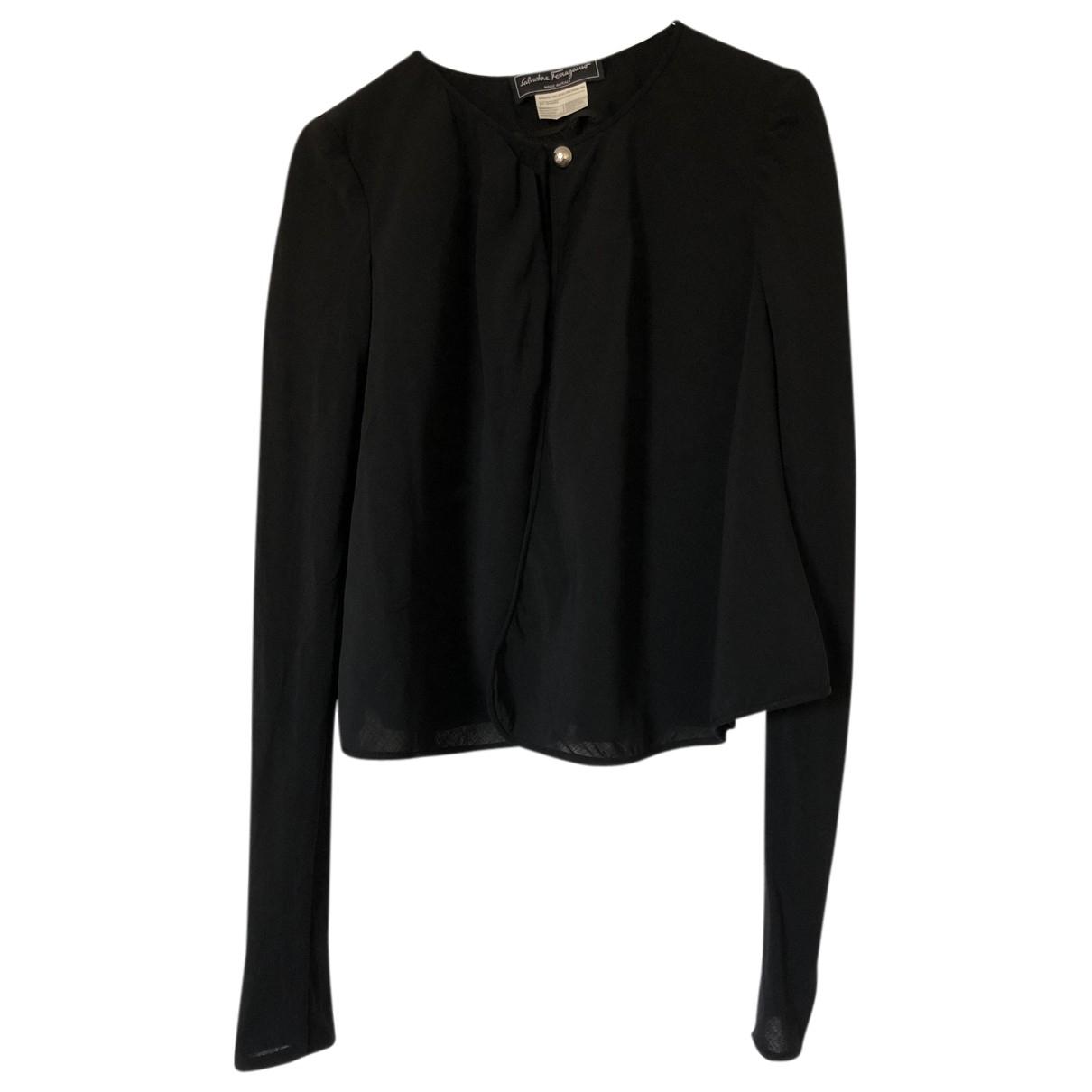 Salvatore Ferragamo - Top   pour femme en laine - noir