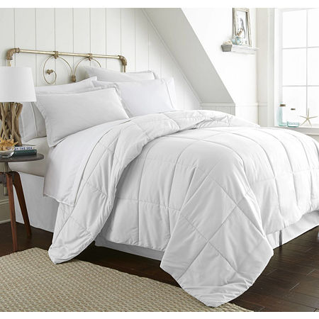 Ienjoy Home Casual Comfort Premium Ultra Soft Complete Bedding Set with Sheets, One Size , White