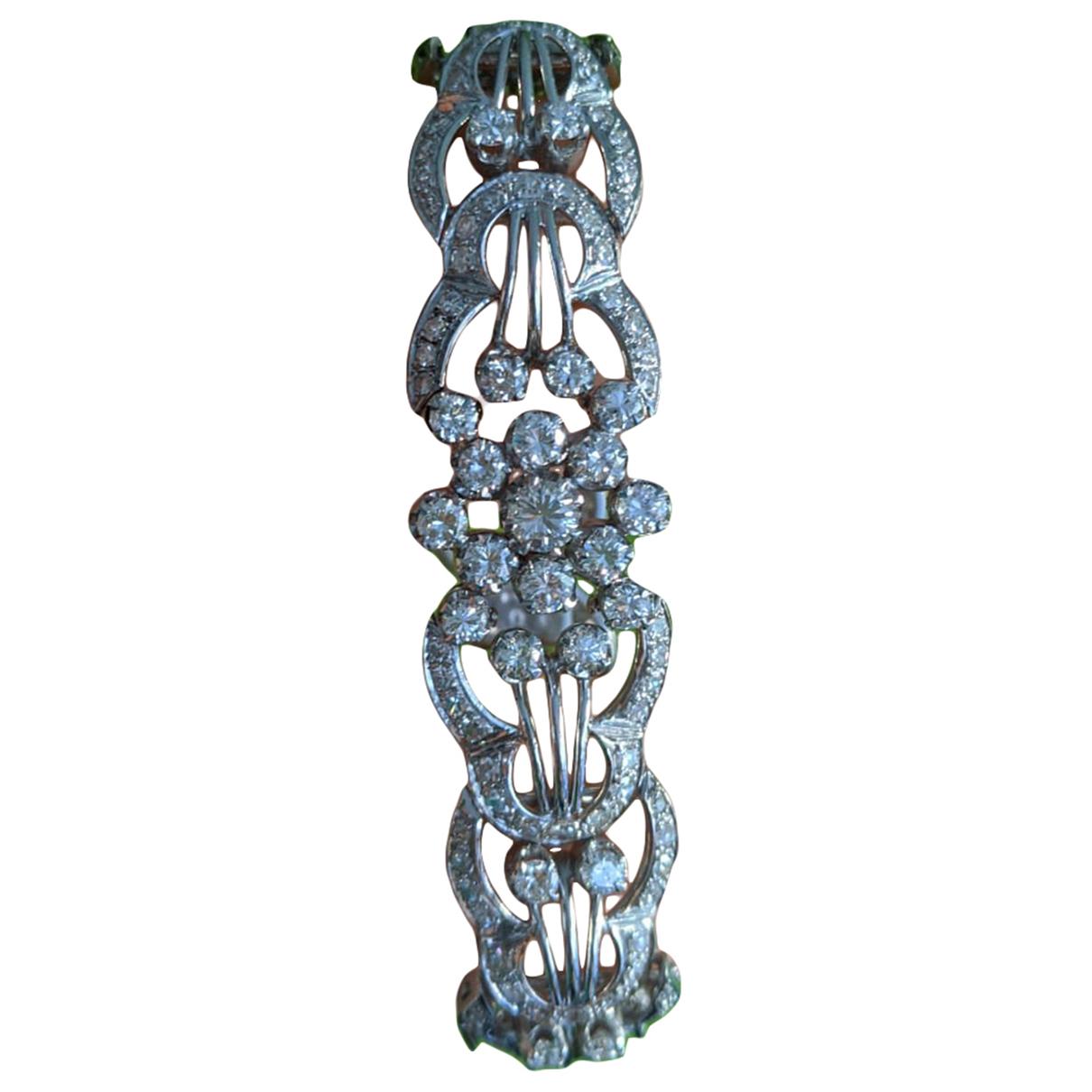 - Bracelet Motifs Floraux pour femme en or blanc - argente