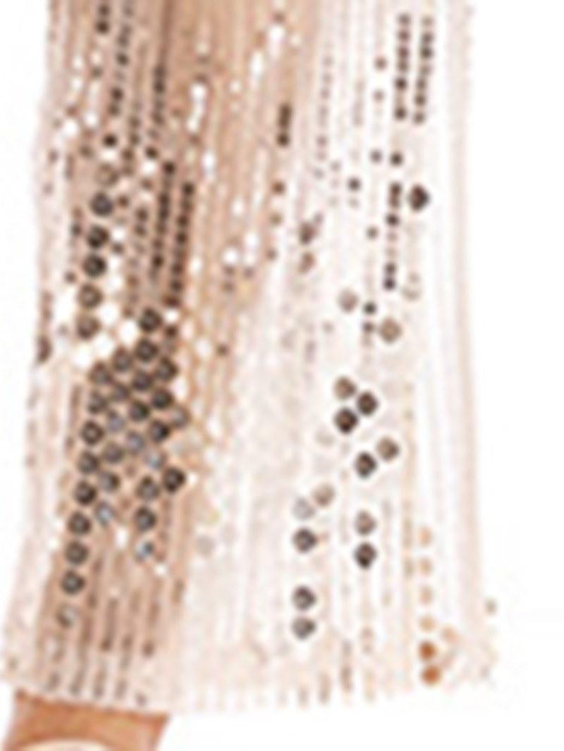 Ericdress Sequins Spaghetti Straps Split Women's Jumpsuit