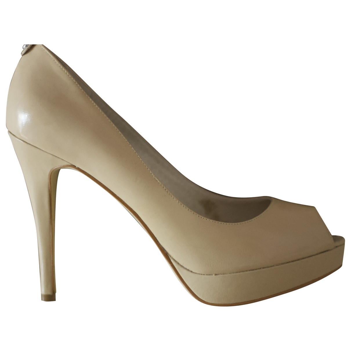 Michael Kors - Escarpins   pour femme en cuir - beige