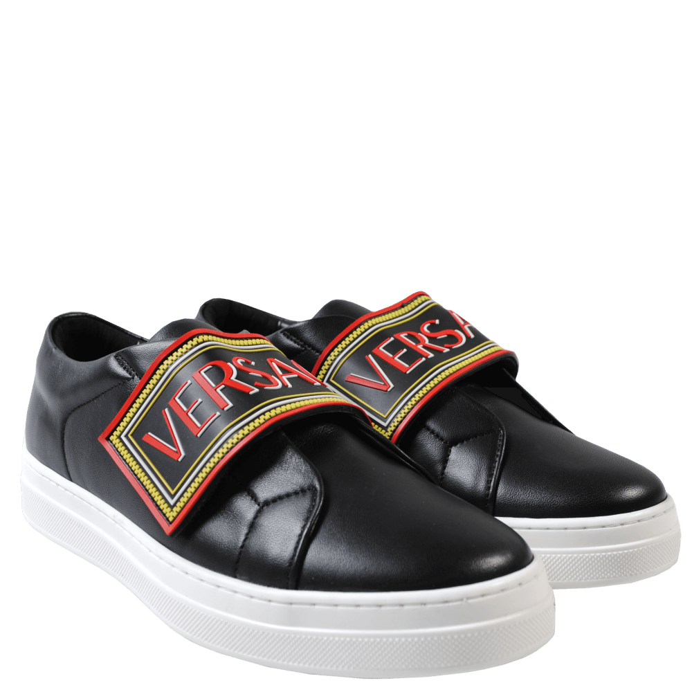 Versace Young Versace 90's Low Top Trainers Colour: BLACK, Size: