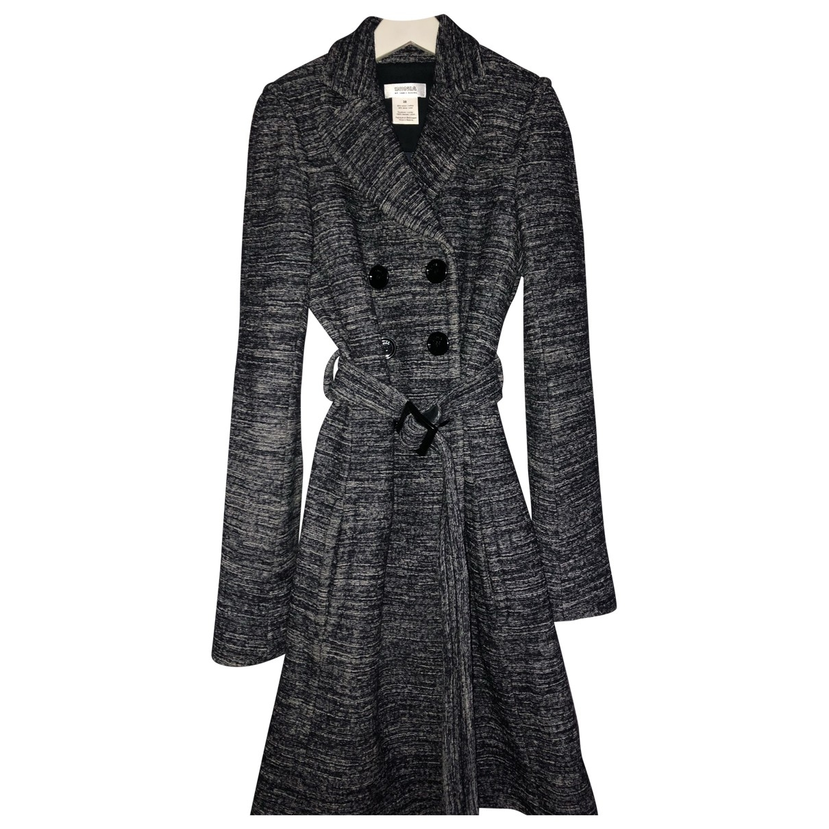 Sonia By Sonia Rykiel \N Anthracite Cotton coat for Women 38 FR