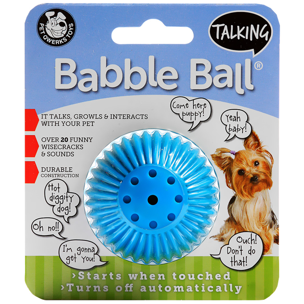 Pet Qwerks Talking Babble Ball - Small 2 1/8