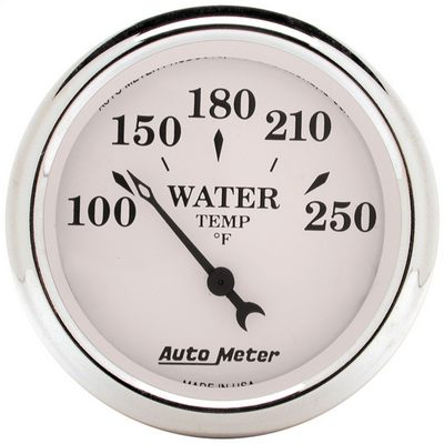 Auto Meter Old Tyme White Water Temperature Gauge - 1638