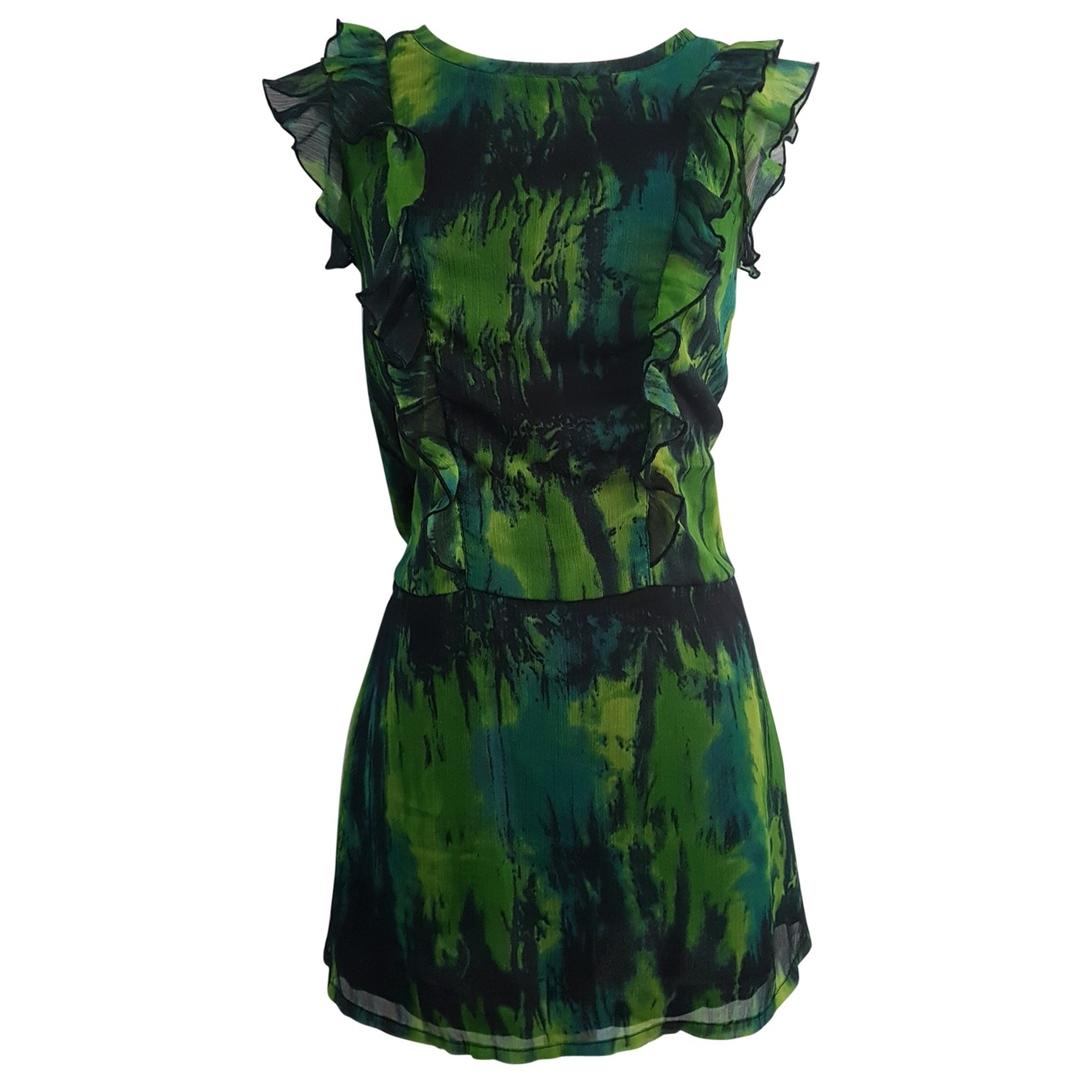 Jean Paul Gaultier \N Green Silk dress for Women 38 FR