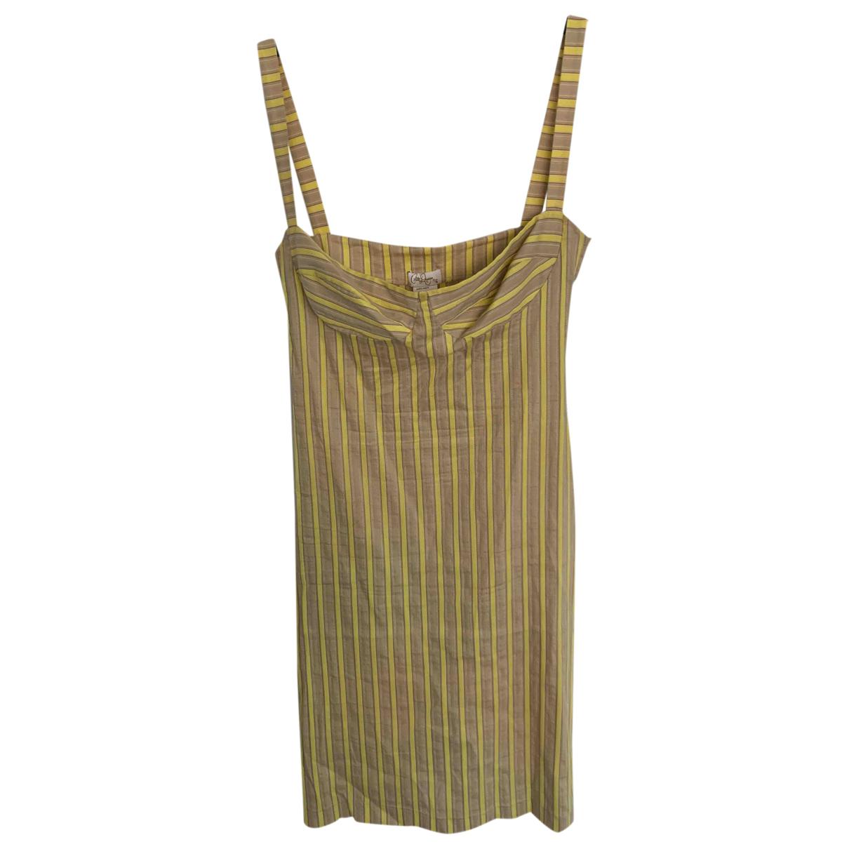 Collette Dinnigan \N Kleid in  Gelb Baumwolle