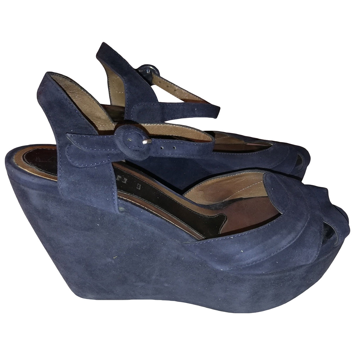 Marni \N Blue Suede Sandals for Women 36 IT