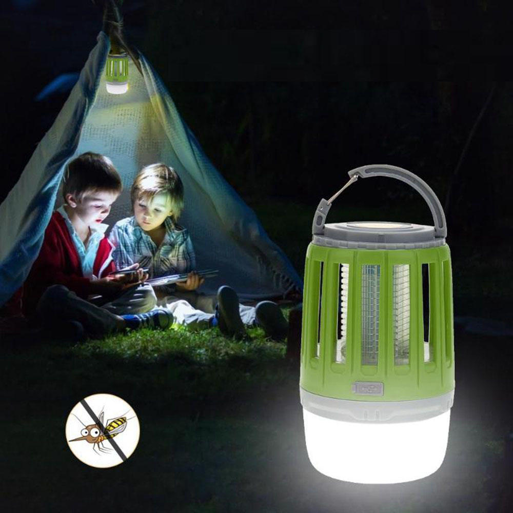 Mosquito Killer Lamp USB Rechargeable Waterproof Outdoor Tent Camping Lantern Trap Repeller Light